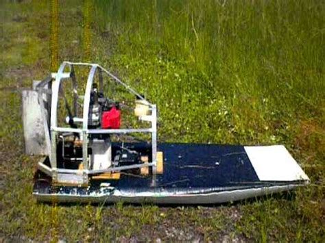 rc jet airboat rc airboat 46cc homelite engine youtube