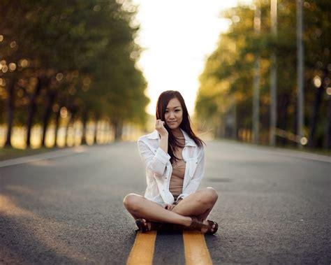 wallpaper 4k girl girl on road 1080p wallpaper wide screen wallpaper 1080p