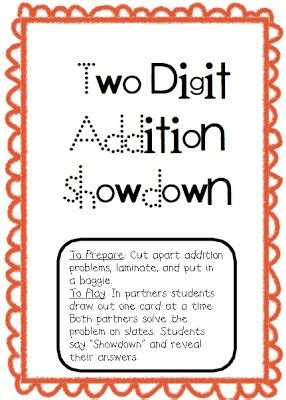 printable addition games year 2 more two digit addition freebies for west coast buddies