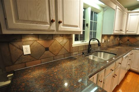 granite kitchen ideas granite countertops and tile backsplash ideas eclectic kitchen indianapolis by supreme