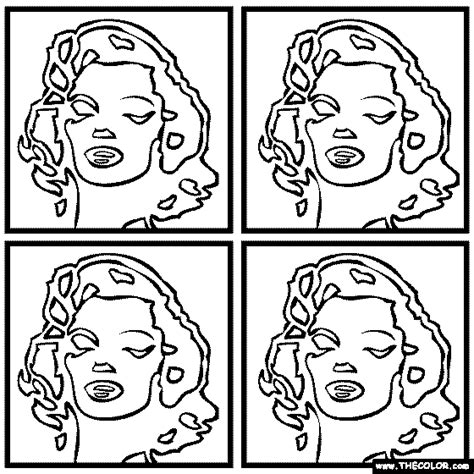 andy worhol s marilyn monroe coloring page art and