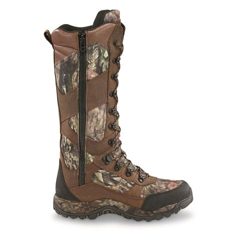 guide gear men s pursuit ii camo 16 snake boots mossy