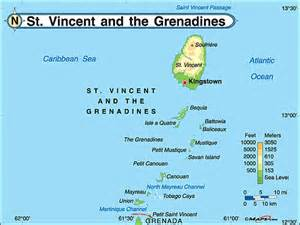 map st vincent and the grenadines st vincent the grenadines physical map by maps from maps world s largest map store