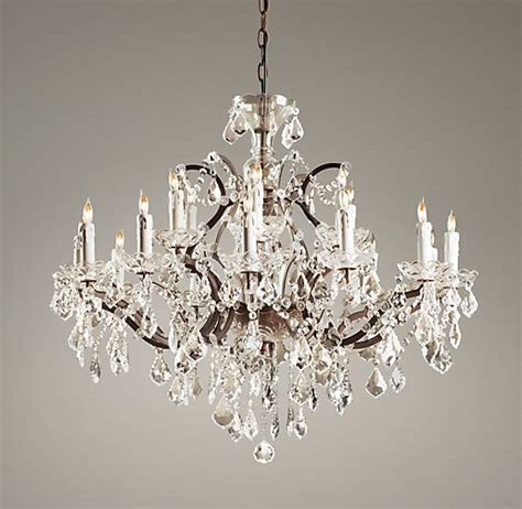19th C Rococo Iron Crystal Large Chandelier Rh Chandelier
