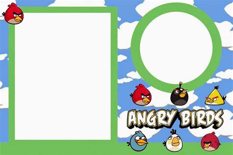 free printable birthday invitations angry birds angry birds with clouds free printable invitations oh
