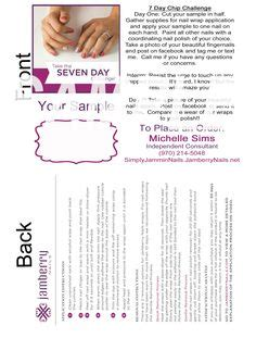 jamberry sle card template jamberry nas on