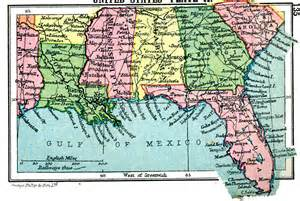 Map Of Southern States Of Usa by Southern United States