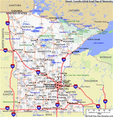 minnesota on the map of usa minnesota city map