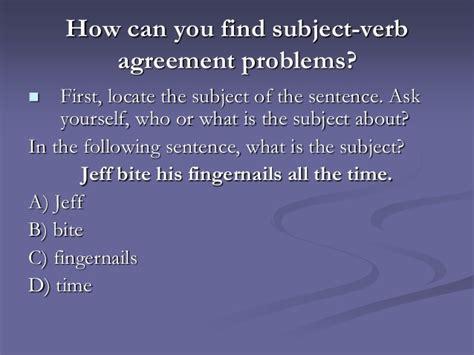 sentence pattern subject verb agreement subject verb agreementpp01