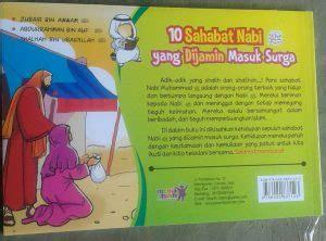 Buku Anak Islam Boardbook Seri Sahabat Rasulullah buku anak 10 sahabat nabi yang dijamin masuk surga 3 jilid