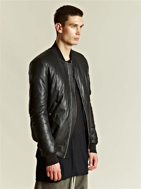Rik Black lyst rick owens rick owens mens padded woven bomber jacket in black for