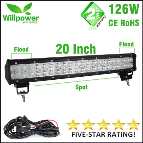 Lu Led Offroad Ce Rohs Approved Waterproof 10100lms 126w Led Bar Offroad Driving Light Led Light Bar Work Light