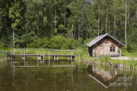 Cabin By The Water by Cabin Near The Water Photograph By Jaak Nilson