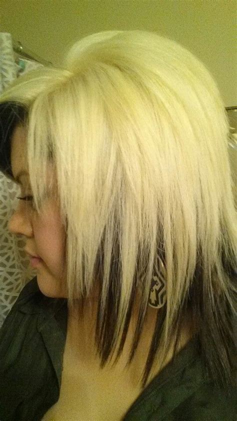 how to put brown under blonde hair contrasting hair colors platinum blonde with dark brown