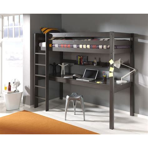 lit superpose bureau lit enfant superpos 233 bureau quot pino quot taupe