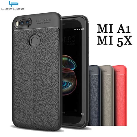 Xiaomi Mi A1 Xiaomi 5x Cover Hardcase Original lephee original for xiaomi mi a1 mia1 mi 5x silicone cover soft tpu leather back cover for