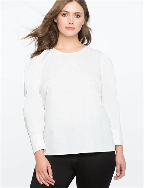 Pleated Sleeve Blouse pleated puff sleeve top blouse s plus size tops