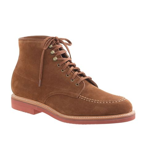 j crew boots mens j crew kenton suede pacer boots in for acorn lyst