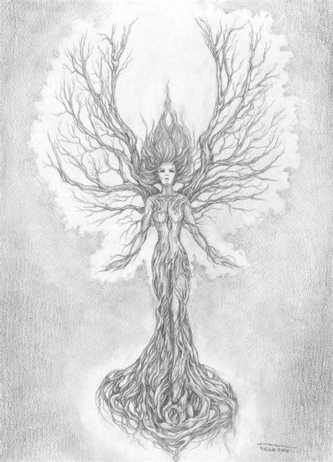 tree women by aramyt on tree drawing www pixshark images galleries