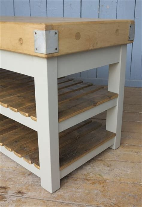 painted butchers block antique waxed painted butchers block with slatted