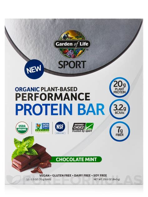 Garden Of Plant Based Protein Sport Organic Plant Based Performance Protein Bar