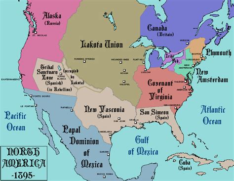 american map before colonization america after a much different colonization 1895