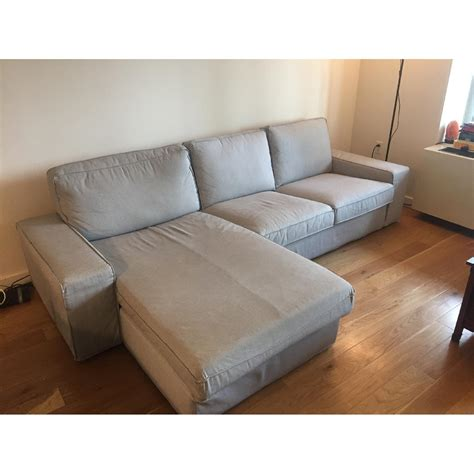 sectional sofa w chaise ikea kivik sectional sofa w chaise in orrsta light aptdeco