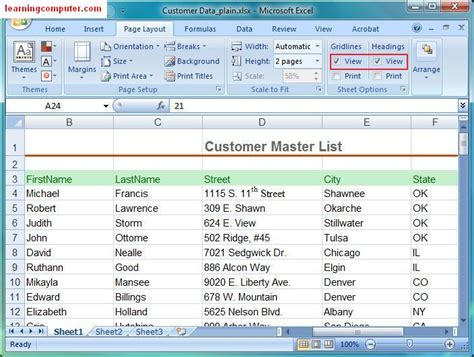 excel page layout view not working microsoft excel tutorial page layout tab in ms excel