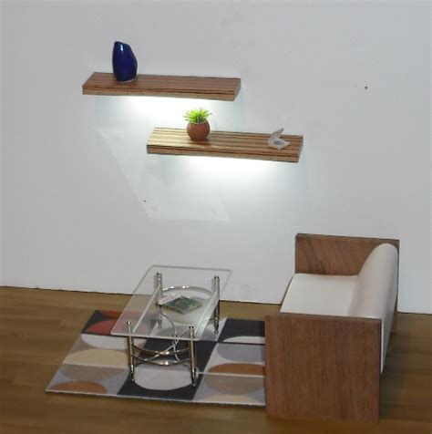 Floating Shelf Lighting by Floating Shelves With Lights Roselawnlutheran