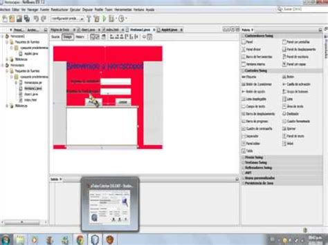 tutorial java applet netbeans applet en netbeans 7 2 e insertar en pagina html youtube