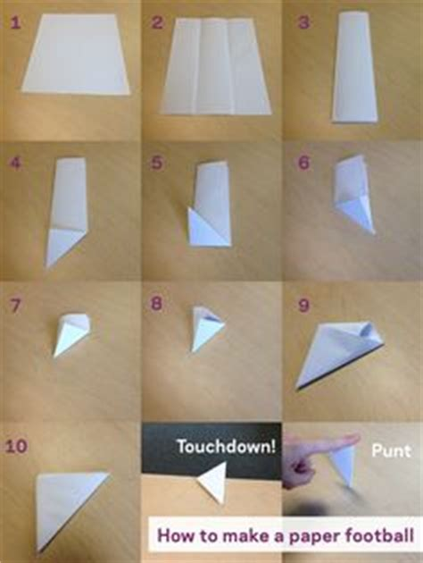 Make A Paper Football - crafts for on catapult finger knitting