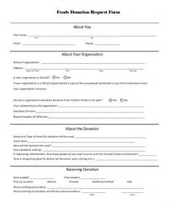 donation request form template sle donation request form 10 exles in pdf word