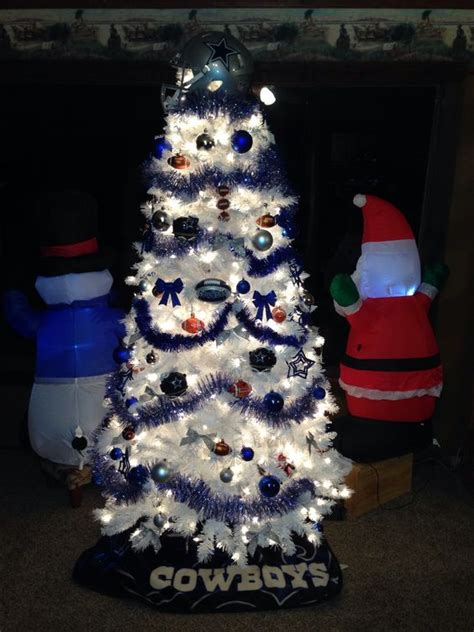 dallas cowboy christmas tree crafty pinterest trees