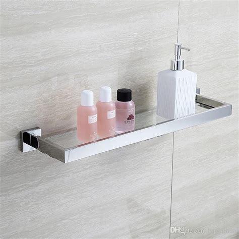 glass wall shelves for bathroom 2017 blh81805 glass bathroom shelves shoo holder