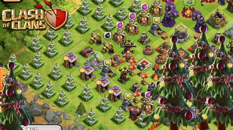 in coc xmas tree in 2016 clash of clans x tree base build a new update base