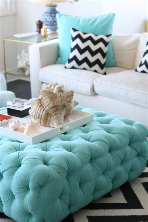 tufted turquoise ottoman tufted teal ottoman modern white couch with black and