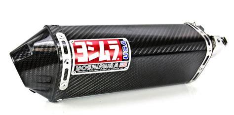 Knalpot Yoshimura Usa Carbon Series yoshimura trc series dual slip on mufflers carbon fiber with carbon fiber end cap