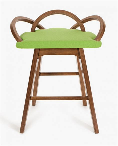 modern nouveau barstool inspired by opening flower