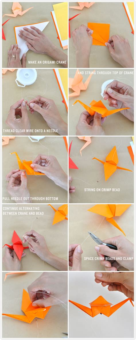 How To Make Garland Out Of Paper - diy ombr 233 crane garland camille styles