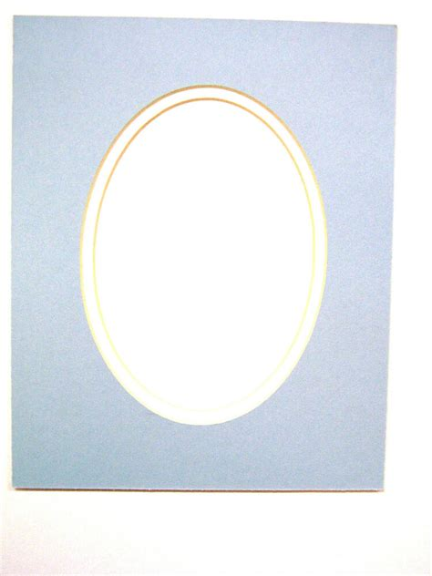 oval matting for pictures picture mat for framing baby blue with white liner oval
