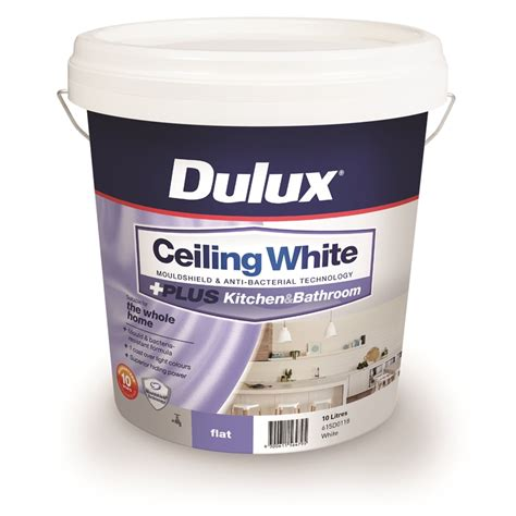 dulux bathroom paint price dulux 10l ceiling white plus kitchen and bathroom paint