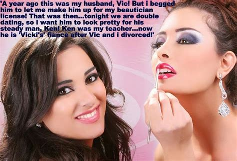 changed into a sissy in a beauty salon 72 best tg captions hair and makeup images on pinterest
