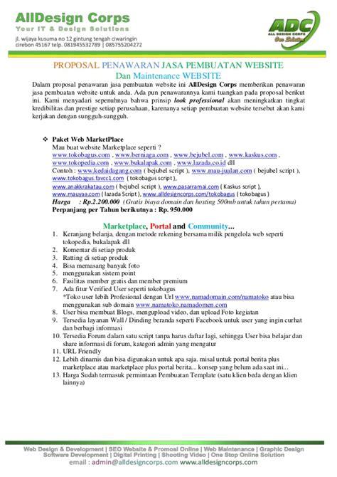 penawaran jasa pembuatan website professional indonesia www