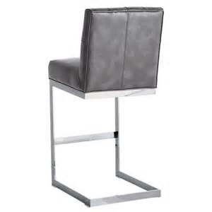 Grey Leather Bar Stool Cavalli Grey Nobility Leather Bar Stool Buy Leather Bar Stools