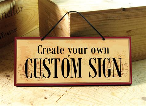 custom signs for home decor venice custom sign in yellow red brown restaurant