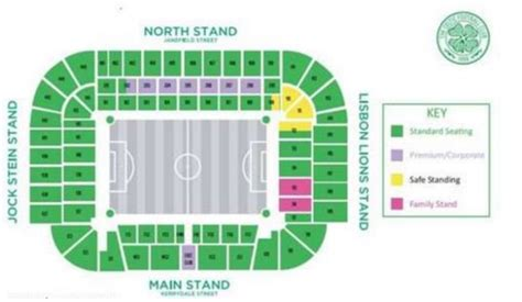 Celtic Release Map Showing They Ll Have Safe Standing Area