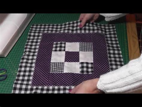 kissenbezug selber nähen patchworkowa poduszka na szydelku kolorowy kwadrat cz