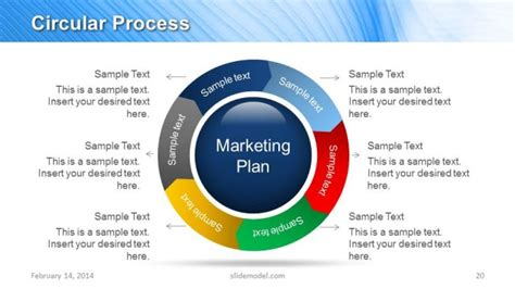 Blue Marketing Plan Template For Powerpoint Marketing Strategy Template Ppt