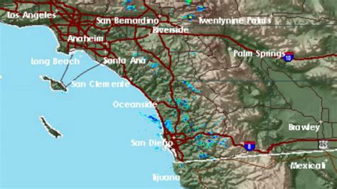 sections of san diego light rain and drizzle falling in parts of san diego
