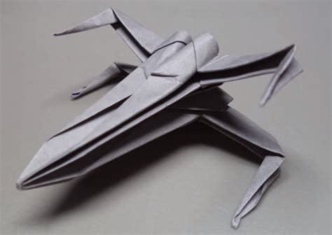 Origami X Wing Starfighter - make your own wars x wing starfighter origami sculpture